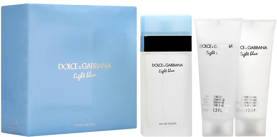 d1de42cd1 Dolce & Gabbana Light Blue Dárková sada EdT 100ml + tělový krém 100ml +  sprchový gel 100ml