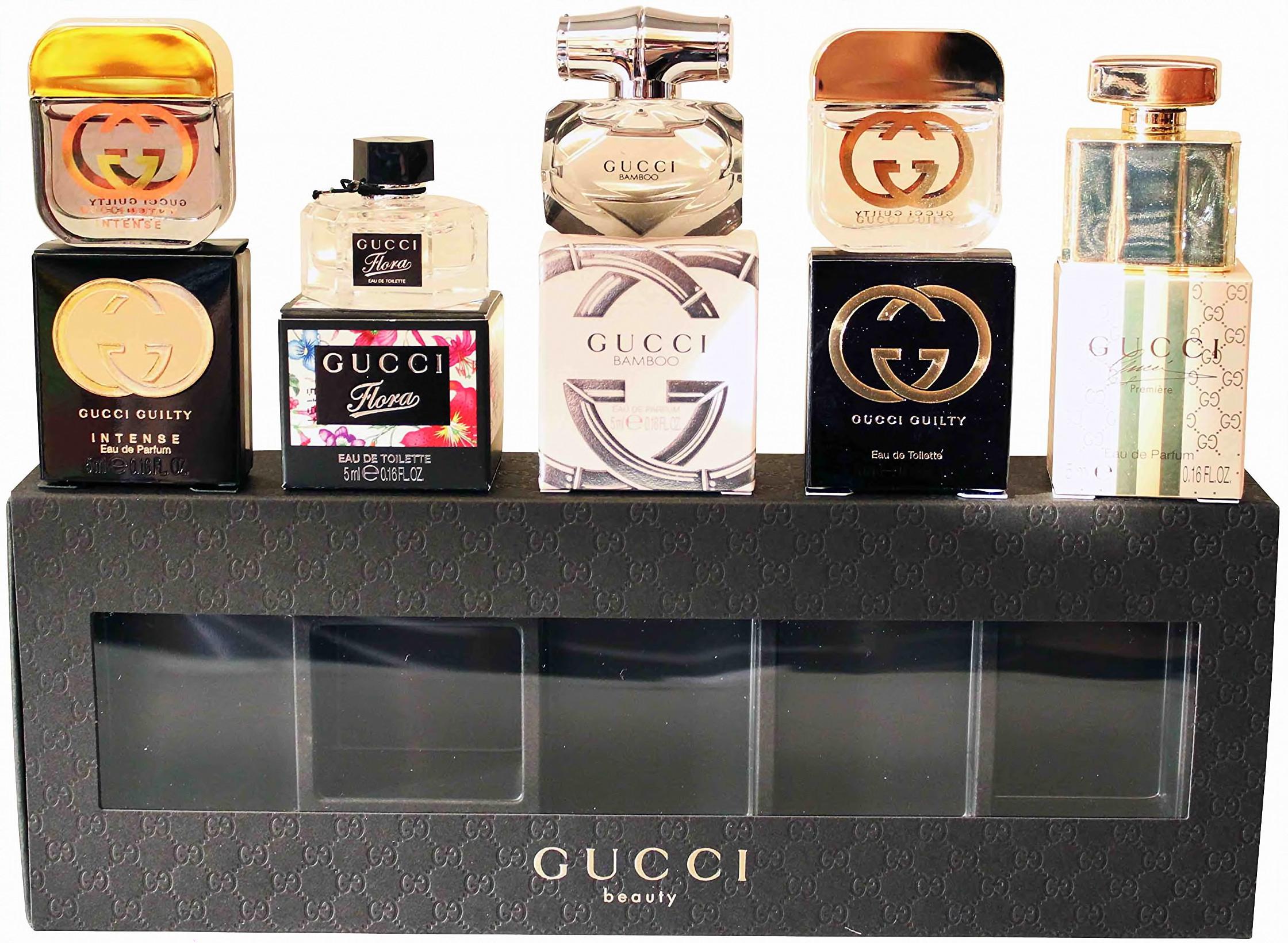 5c62044e3 Gucci Miniatury Dárková sada 5 miniatur v krabičkách
