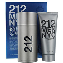Carolina Herrera 212 Men Sada EdT 100ml + gel po holení 100ml