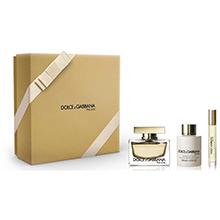 Dolce & Gabbana The One Sada EdP 75ml + EdP 6ml + tělové mléko 100ml + třpytivý pudr 6g