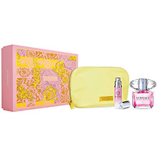 Versace Bright Crystal Dárková sada EdT 90ml + EdT 10ml + kosmetická taška