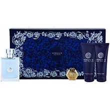Versace Versace pour Homme Sada EdT 100ml + balzám po holení 100ml + sprch.gel 100ml + klíčenka